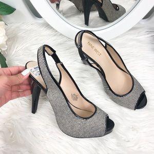 Nine West | Open toe slingback heels, Size 7M